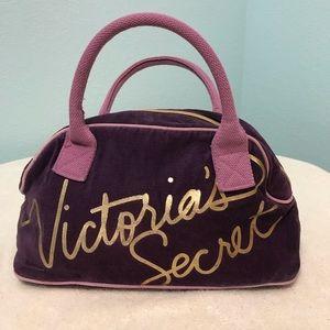 Victoria's Secret Mini Tote Bag, Purple Plush